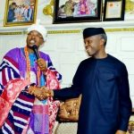 Oluwo Of Iwoland Honors Yemi Osinbajo With  A Chieftaincy
