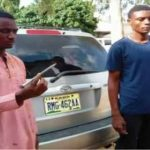 Unbelievable!! 2 Young Men Stabbed An Alhaji With A Big Nail In His Throat (See Photos)