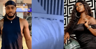 BBNaija Housemates Ka3na And Praise Caught On Camera Having Sex (+18 Video)